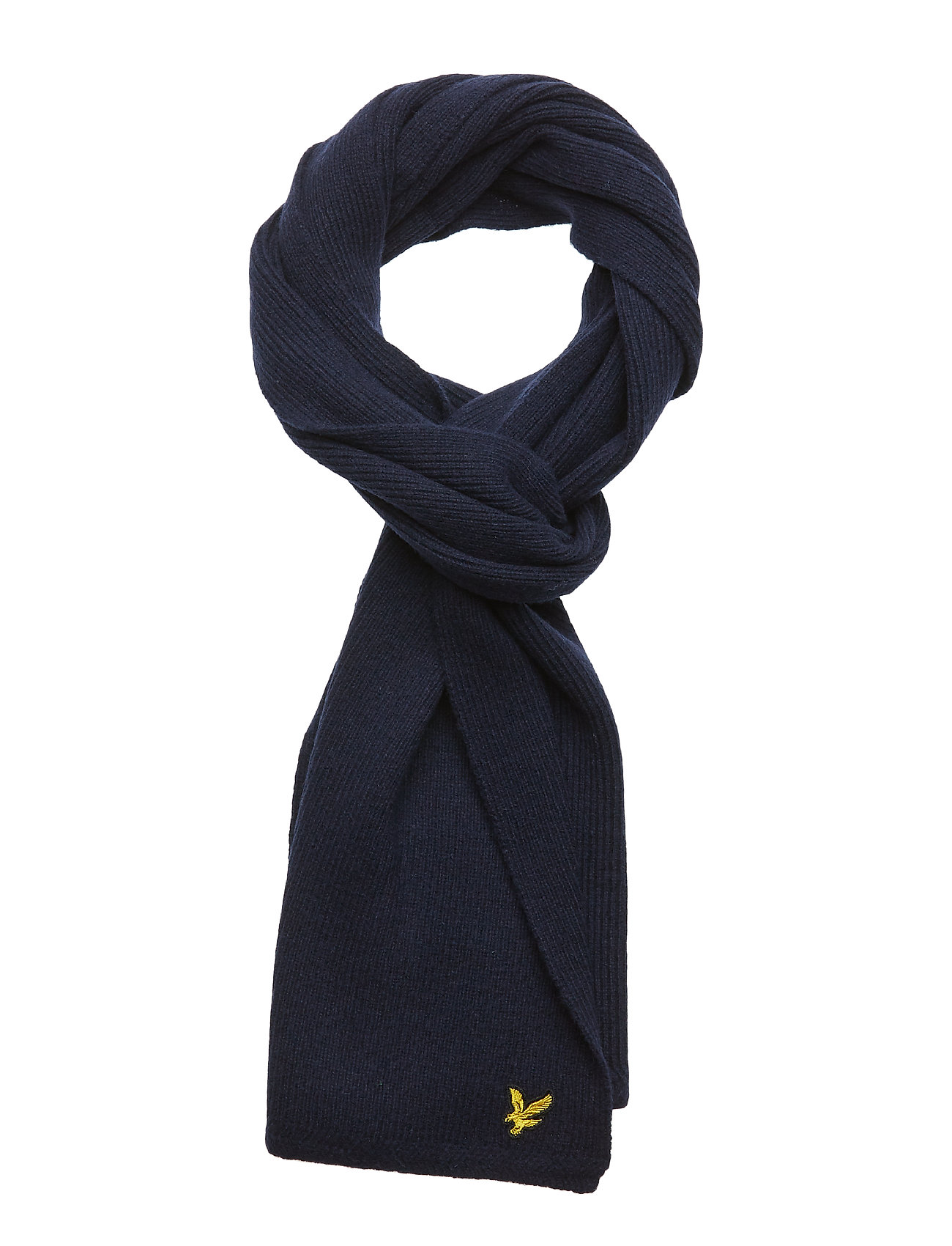 Lyle & Scott Racked rib scarf - BLUE