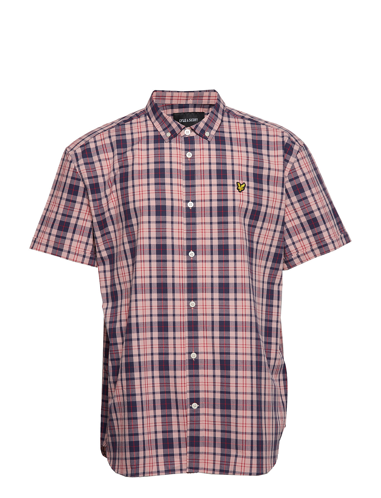 Lyle & Scott SS Check Shirt - CORAL WAY