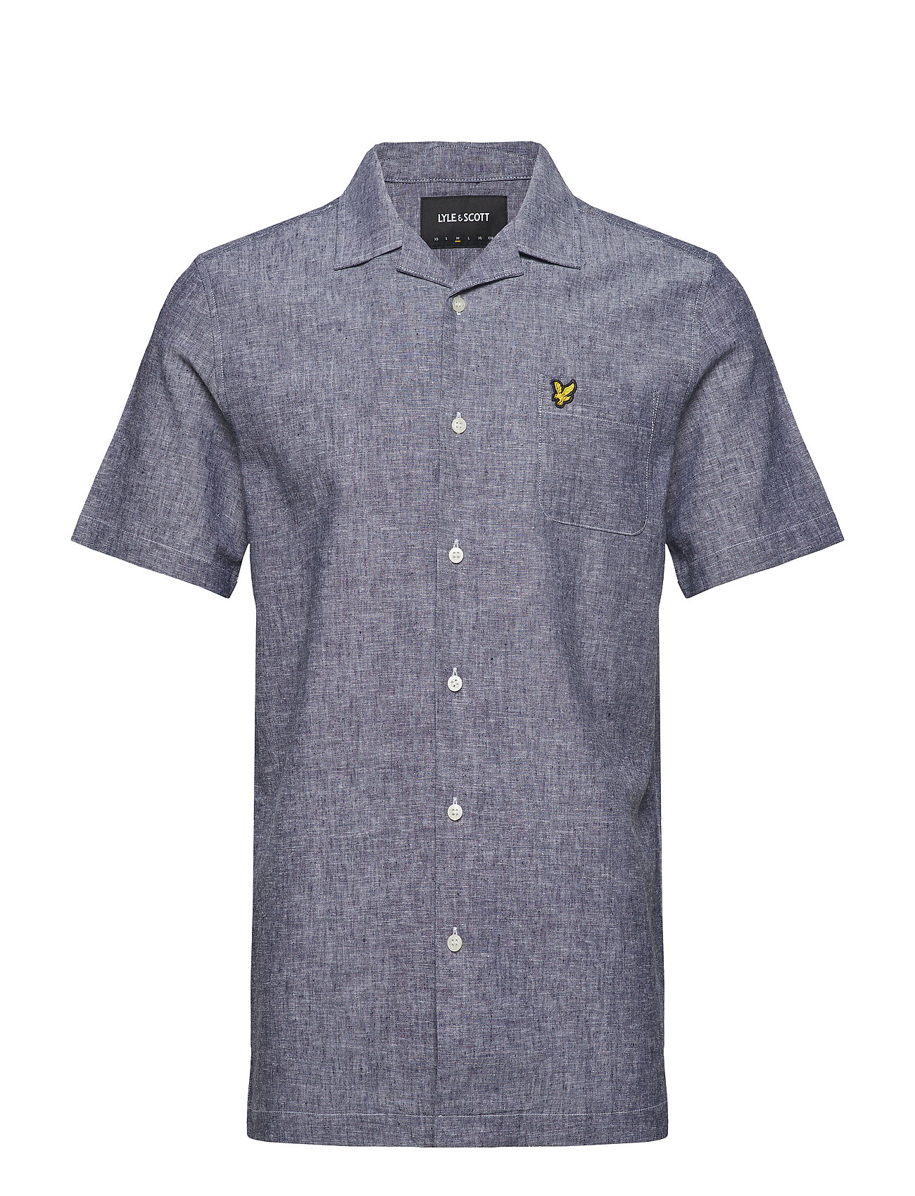 Lyle & Scott Cotton Linen Resort Shirt - NAVY