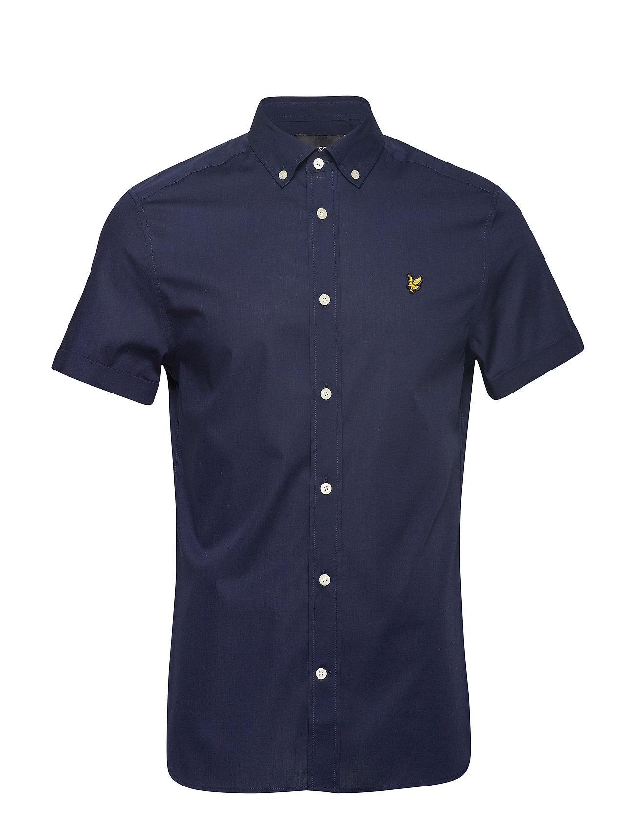 Lyle & Scott SS Slim Stretch Poplin Shirt - NAVY