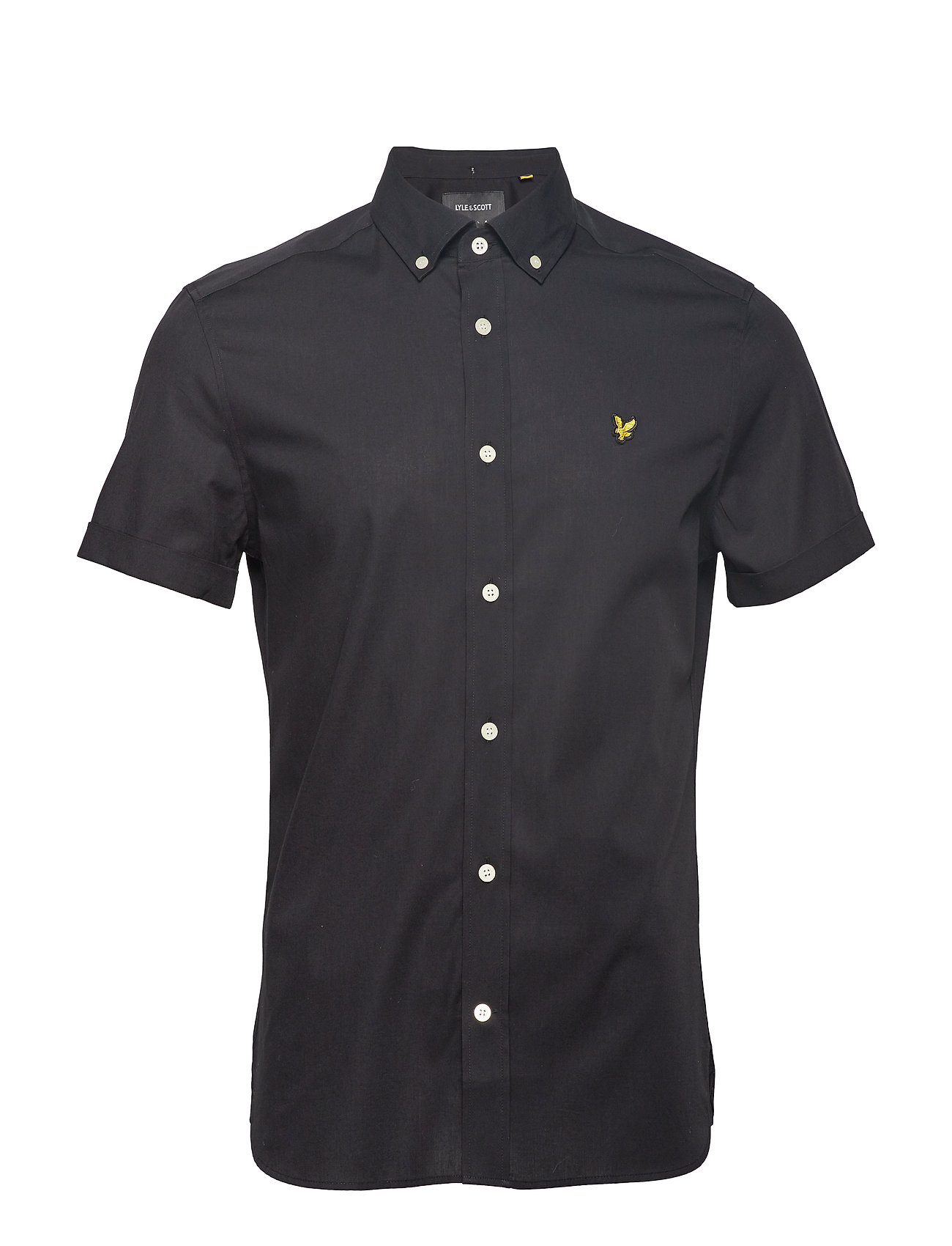 Lyle & Scott SS Slim Stretch Poplin Shirt - TRUE BLACK