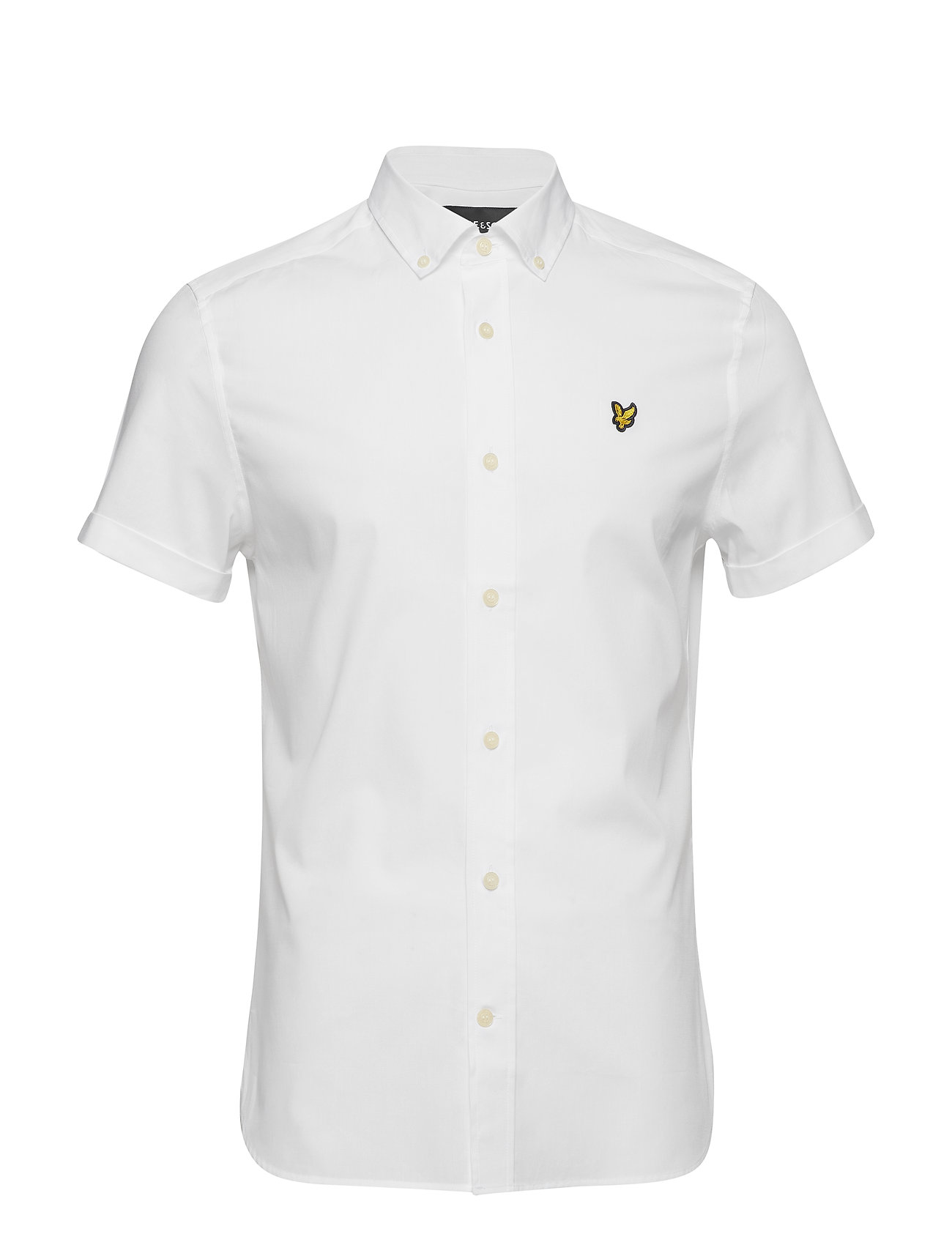 Lyle & Scott SS Slim Stretch Poplin Shirt - WHITE
