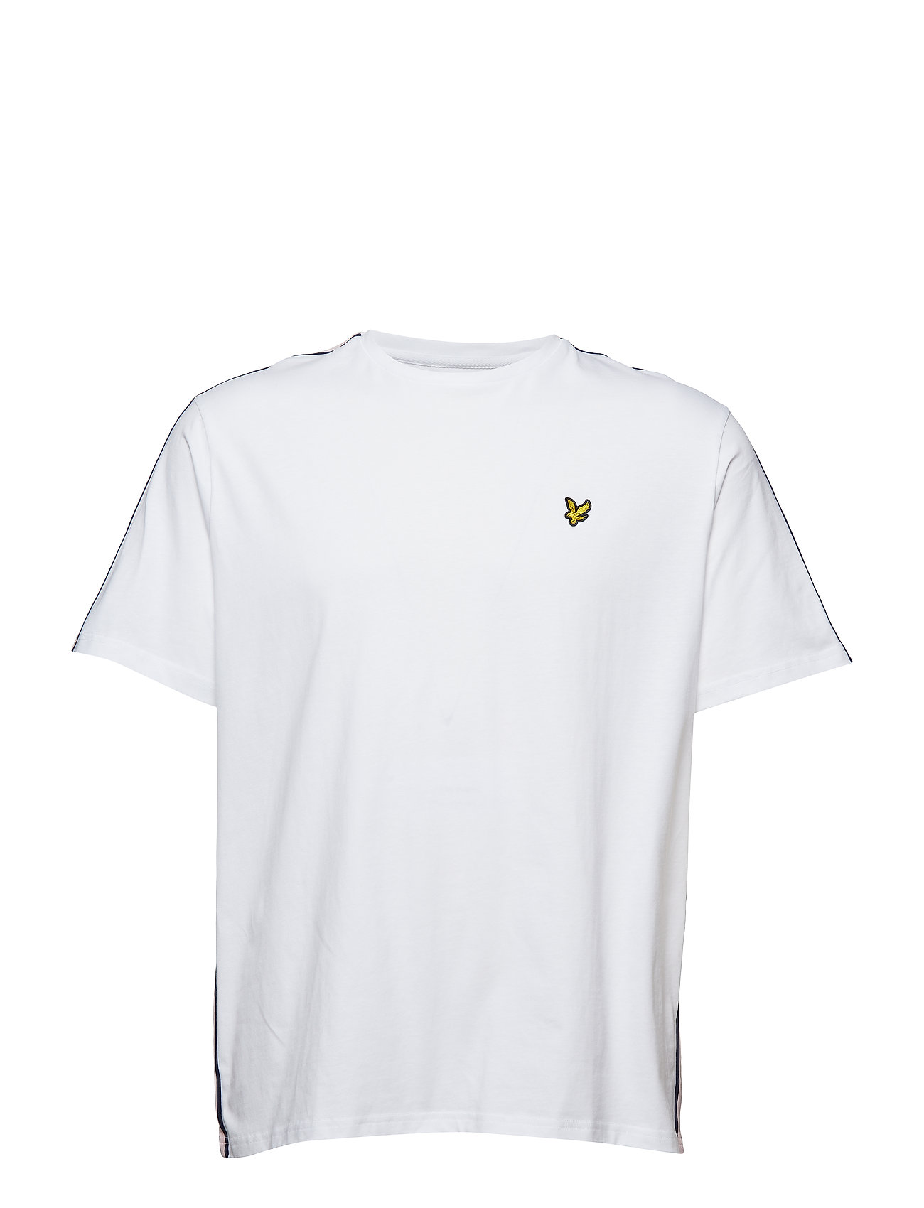 Lyle & Scott Side Stripe  T-shirt - WHITE