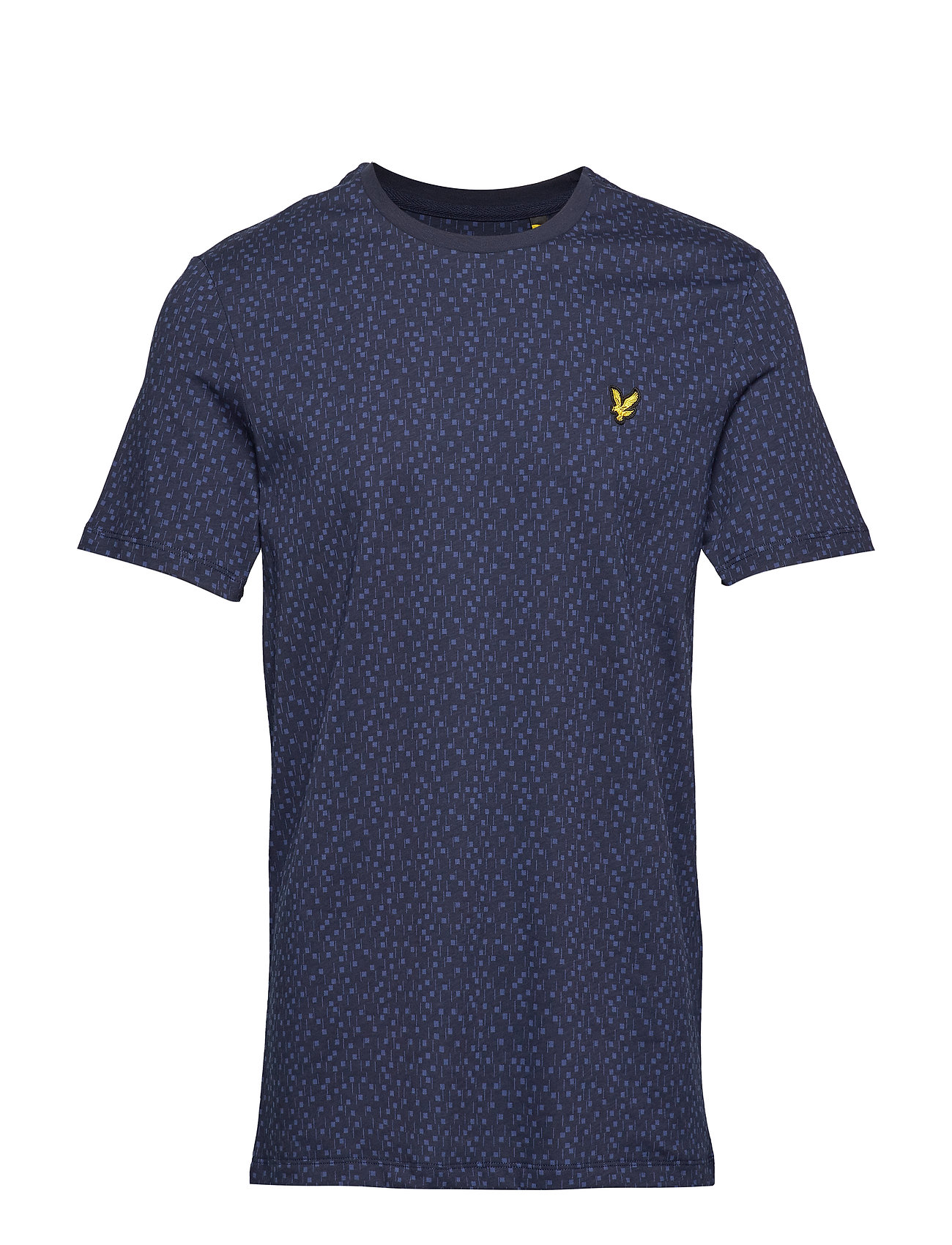 Lyle & Scott Print T-Shirt - NAVY MICRO TILE PRINT