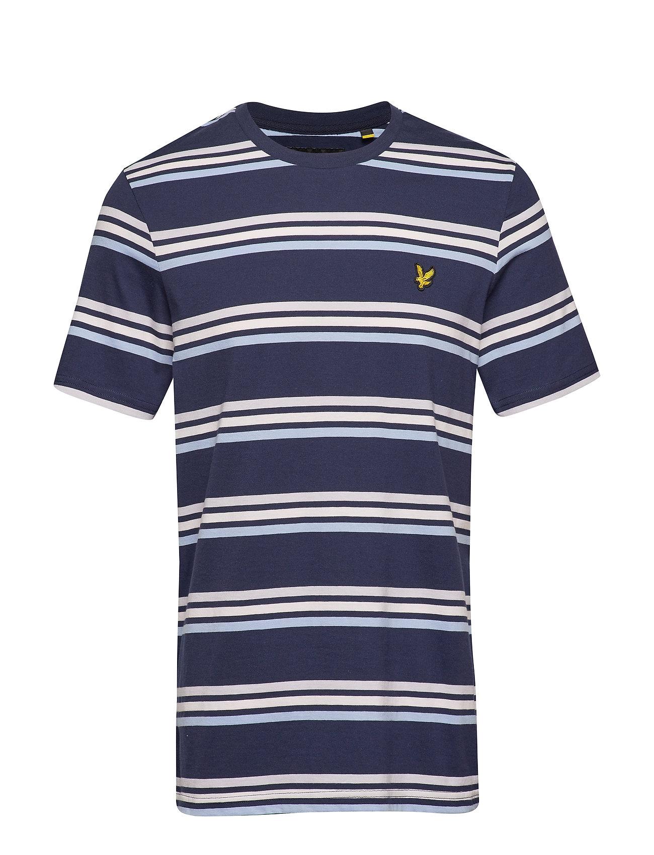 Lyle & Scott Multi Stripe T-Shirt - NAVY