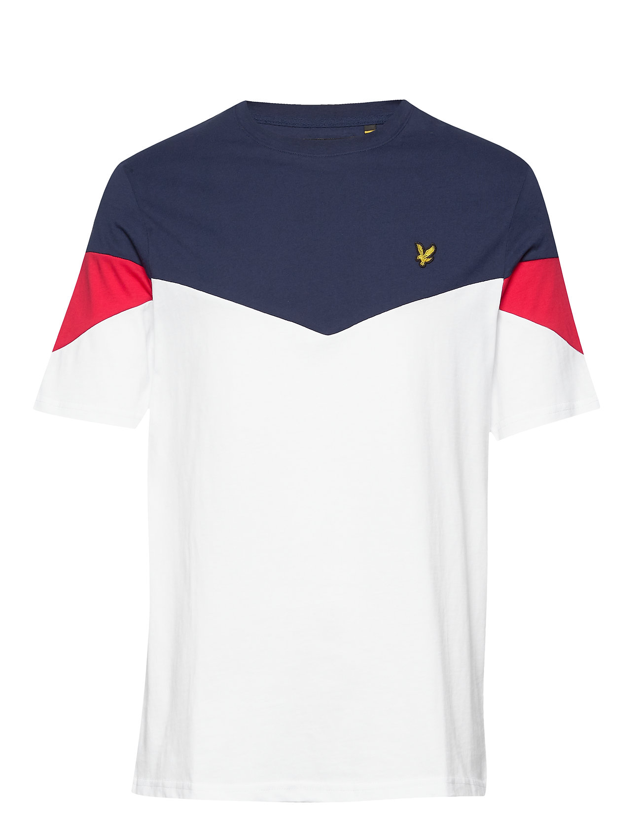 Lyle & Scott PANEL  - T-shirts med print - pool blue/ navy