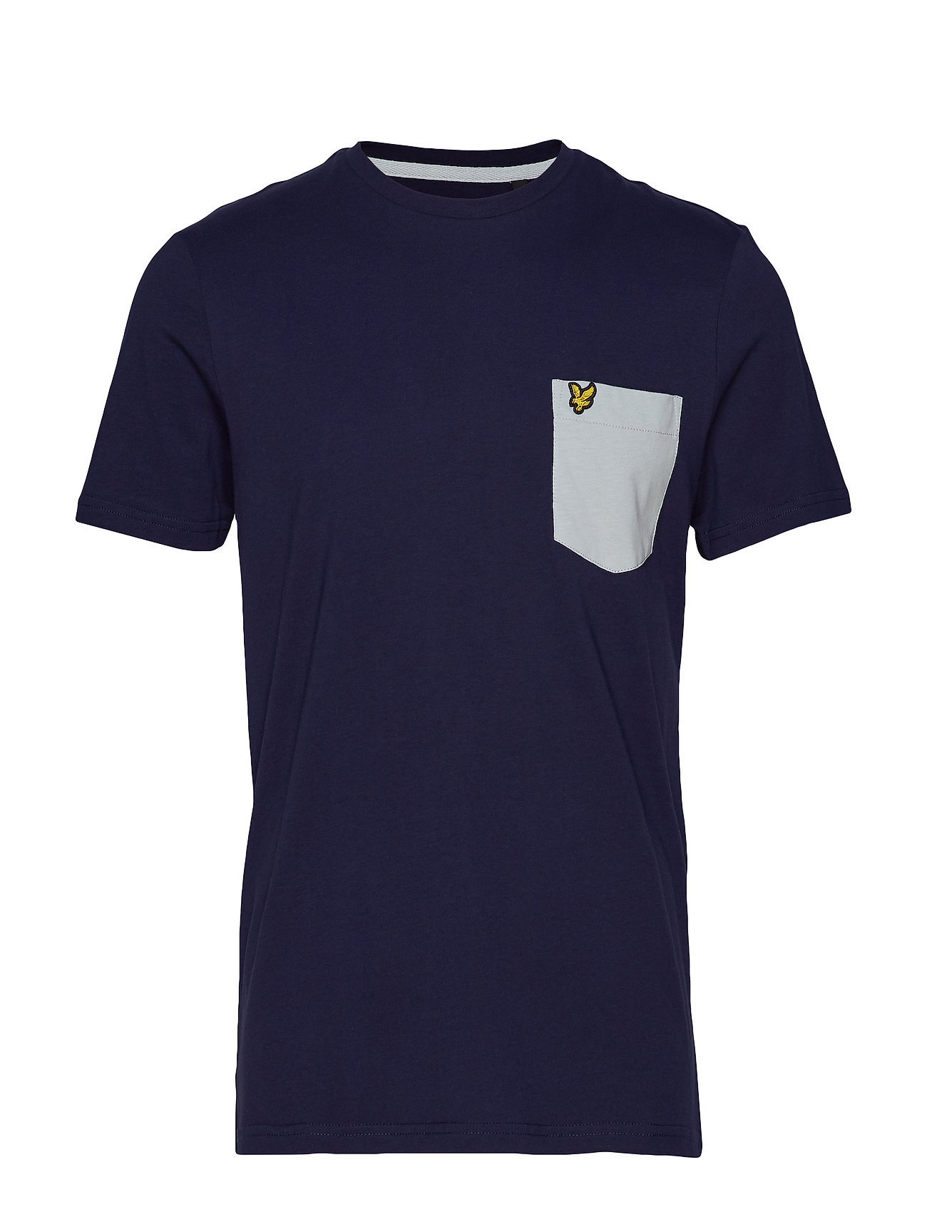 Lyle & Scott Contrast Pocket T Shirt - NAVY/LIGHT SILVER