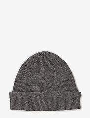 Lyle & Scott - Racked rib beanie - adītas cepures - grey - 1