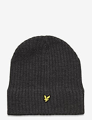 Lyle & Scott - Knitted Ribbed Beanie - bonnet - mid grey marl - 0
