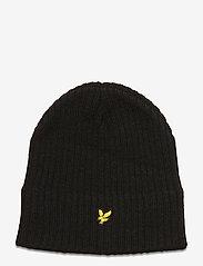 Lyle & Scott - Knitted Ribbed Beanie - bonnet - true black - 0