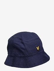 Lyle & Scott - Cotton Twill Bucket Hat - bucket hats - dark navy - 0