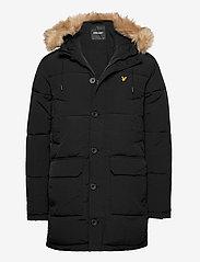 Heavyweight Longline Puffer Jacket - JET BLACK