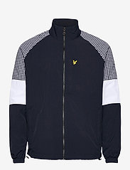 Lyle & Scott - Gingham Mix Track Jacket - vestes légères - dark navy - 0