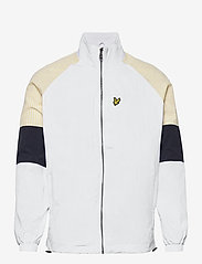 Lyle & Scott - Gingham Mix Track Jacket - vestes légères - white - 0