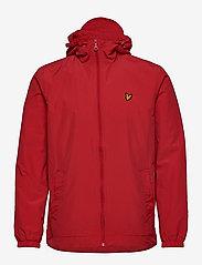 Lyle & Scott - Zip Through Hooded Jacket - vestes légères - gala red - 1