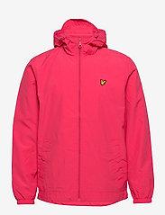 Zip Through Hooded Jacket - GERANIUM PINK