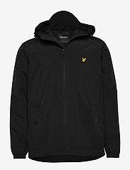 Zip Through Hooded Jacket - JET BLACK