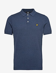 Lyle & Scott - SS Knitted Polo - lyhythihaiset - dark navy marl - 0