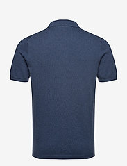 Lyle & Scott - SS Knitted Polo - lyhythihaiset - dark navy marl - 1