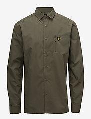 Lyle & Scott - Zip Pocket Overshirt - overshirts - olive - 0