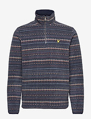 Lyle & Scott - Fairisle Fleece Half Zip - fleece - z271 dark navy - 0