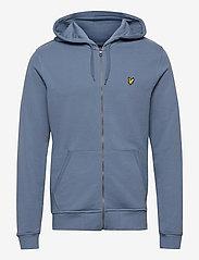 Lyle & Scott - Zip Through Hoodie - hoodies - slate blue - 0