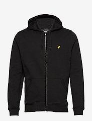 Lyle & Scott - Zip Through Hoodie - hoodies - jet black - 0