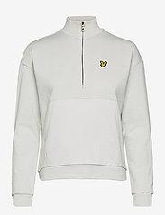 Lyle & Scott - 1/2 Zip Funnel Neck - sweatshirts en hoodies - cloud - 0