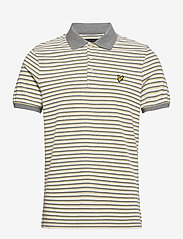 Lyle & Scott - Stripe Polo Shirt - polos à manches courtes - lemon/ mid grey marl - 0