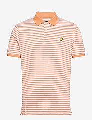 Lyle & Scott - Stripe Polo Shirt - polos à manches courtes - stonewash pink/ melon - 0
