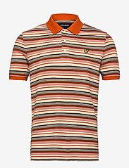 Lyle & Scott - Stripe Polo Shirt - polos à manches courtes - burnt orange - 0