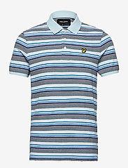 Lyle & Scott - Stripe Polo Shirt - polos à manches courtes - deck blue - 0