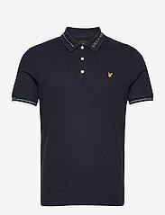 Lyle & Scott - Seasonal Branded Collar Polo Shirt - polos à manches courtes - dark navy - 0