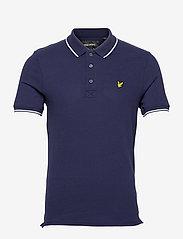 Lyle & Scott - Tipped Polo Shirt - poloshirts - navy/ white - 0
