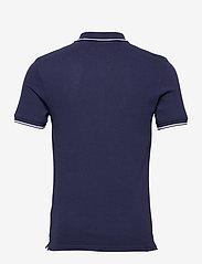 Lyle & Scott - Tipped Polo Shirt - poloshirts - navy/ white - 1