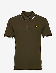 Tipped Polo Shirt - OLIVE/ WHITE