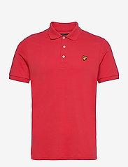 Lyle & Scott - Plain Polo Shirt - polos à manches courtes - gala red - 0