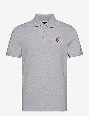 Lyle & Scott - Plain Polo Shirt - polos à manches courtes - light grey marl - 0