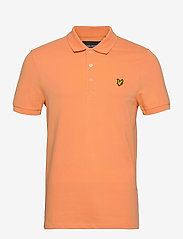 Lyle & Scott - Plain Polo Shirt - polos à manches courtes - melon - 0