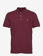 Lyle & Scott - Plain Polo Shirt - polos à manches courtes - merlot - 0