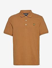 Lyle & Scott - Plain Polo Shirt - polos à manches courtes - tawny brown - 0