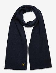 Racked rib scarf - DARK NAVY
