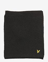 Lyle & Scott - Racked rib scarf - true black - 2