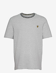 Lyle & Scott - Argyle Rib T-Shirt - t-shirts basiques - light grey marl - 0