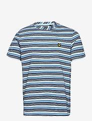 Lyle & Scott - Multi Stripe T-Shirt - t-shirts à manches courtes - deck blue - 0