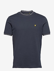 Lyle & Scott - Seasonal Branded Ringer T-shirt - t-shirts basiques - dark navy - 0