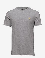 Crew Neck T-Shirt - MID GREY MARL