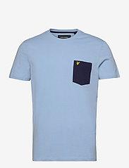 Lyle & Scott - Contrast Pocket T Shirt - t-shirts à manches courtes - fresh blue/ navy - 0