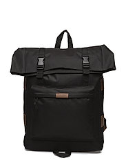 Oversized Rolltop Rucksack - TRUE BLACK