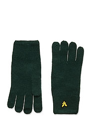 Racked rib gloves - JADE GREEN